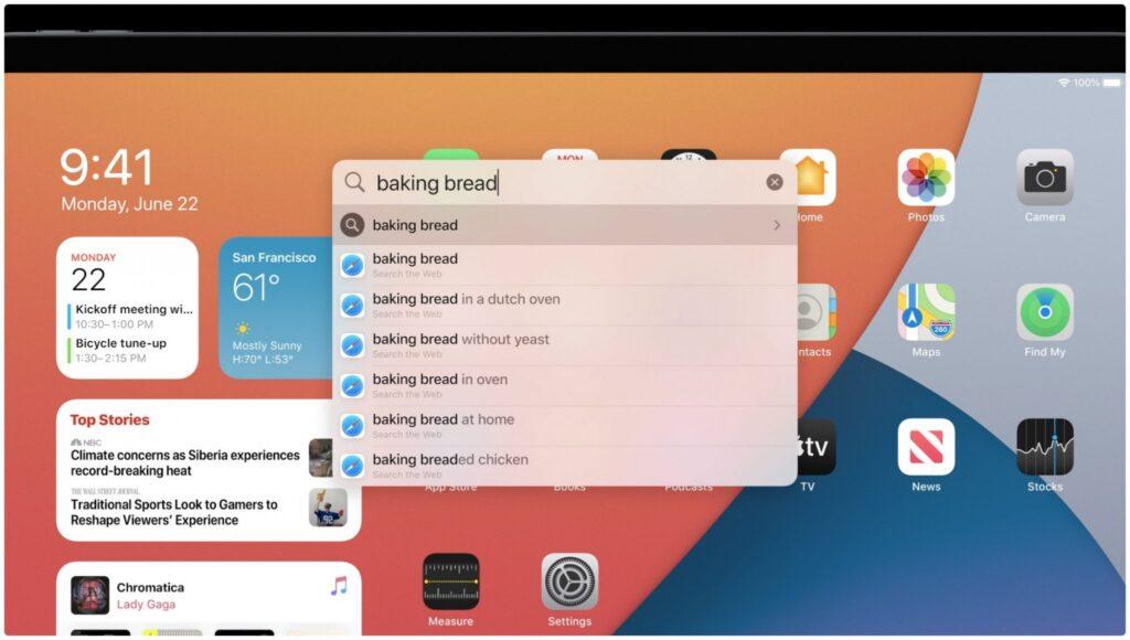 سیستم عامل iPadOS 14