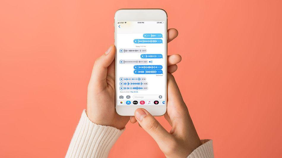 ارسال پیام در iMessage آیفون