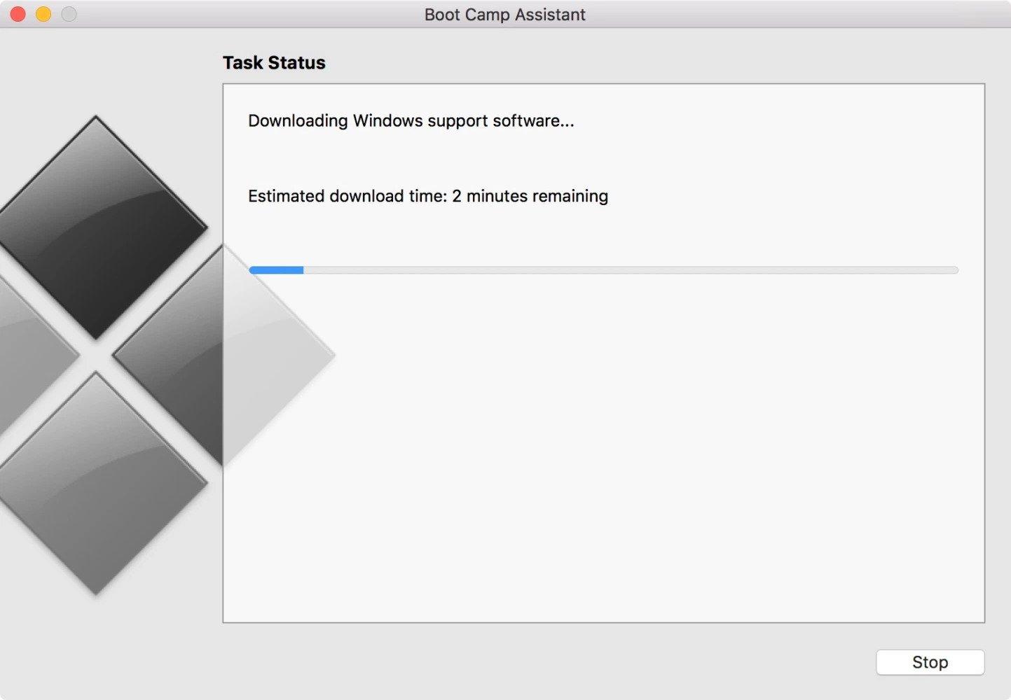 نصب ویندوز با برنامه Boot Camp