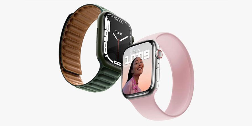 اپل واچ سری ۷ با دیزاین قبلی، صفحه نمایش بزرگتر و رنگهای جدید رونمایی شد