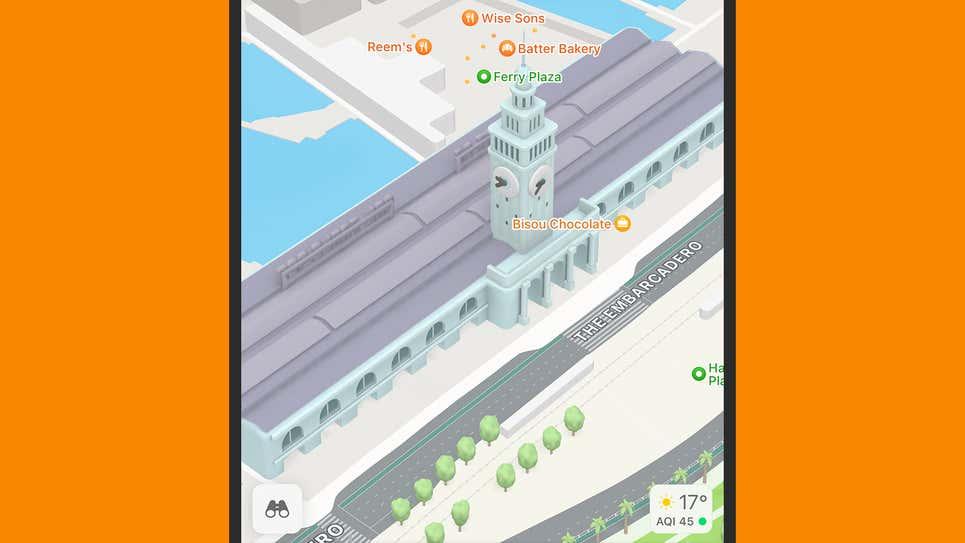 جزئیات بیشتر برنامه Apple Maps