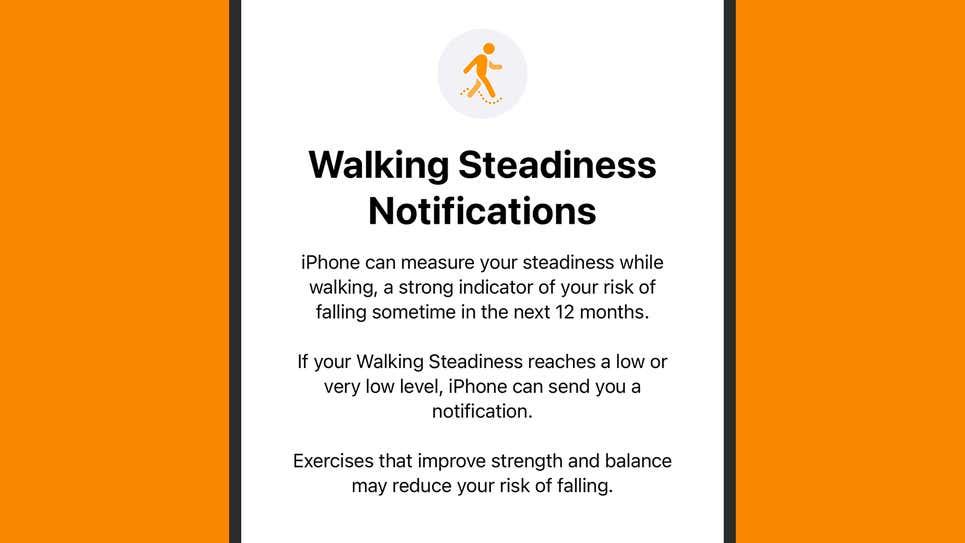 قابلیت Walking Steadiness در آپدیت iOS 15