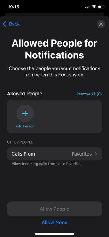 تنظیم خودکار قابلیت فوکوس مود بر روی آیفون و آیپد