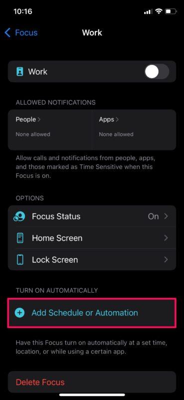 تنظیم خودکار Focus mode